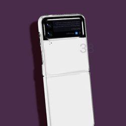 다더퍼 투명 갤럭시Z플립 3 방탄 하드 슬림 핏 케이스