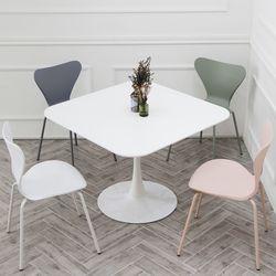 더조아 유니테이블 1000 사각 4인용 식탁 라운드 티테이블