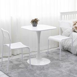 더조아 유니테이블 600 사각 4인용 식탁 라운드 티테이블