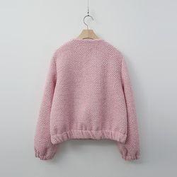 Tweed Wool Shirring Mini Jacket