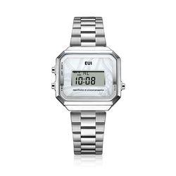 EUI 공용 메탈 전자시계 EUI6101M-SW(NEWHEE0DPG)