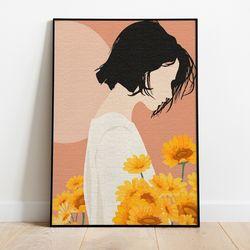명화그리기 꽃밭의 소녀 캔버스페인팅 DIY 유화그림 직장인취미