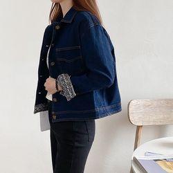 여자 가을 빈티지 청청패션 깔끔한 20대 30대 청자켓