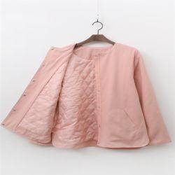 여자 가을 펀펀 깔깔이 라운드 기본 깔끔한 자켓