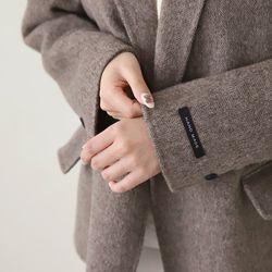 여자 겨울 데일리 원버튼 하객룩 깔끔한 기본 울 자켓