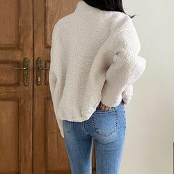 여자 겨울 건빵 뽀글이 귀여운 캔퍼스룩 폴리 자켓