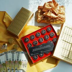 황금 돈진단 20구+보자기 용돈 박스 돈 선물 상자