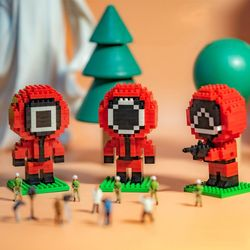 미니 블럭 동그라미 세모 네모 만들기 조립 레고 세트