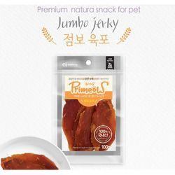 강아지간식 프리미요 수제간식 점보 육포 100g 3개