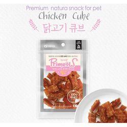 강아지간식 프리미요 수제간식 닭고기 큐브 100g 3개