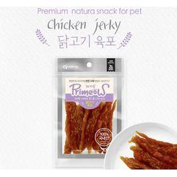 강아지간식 프리미요 수제간식 닭고기 육포 100g 3개