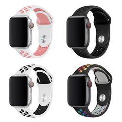 애플워치 6 5 4 3 2 SE 7세대 스포츠 실리콘 시계줄 스트랩 밴드
