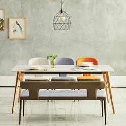 코니시 통세라믹 6인 식탁 세트(벤치형)