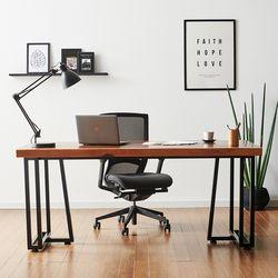2000x600 코디 우드슬랩 책상 원목 테이블