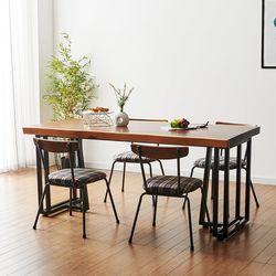 1800x600 코디 우드슬랩 식탁 6인용 테이블