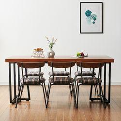 2000x600 코디 우드슬랩 식탁 8인용 테이블