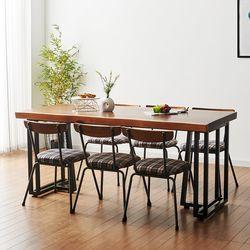 1800x800 코디 우드슬랩 식탁 6인용 테이블