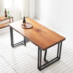 1600x600 코디 우드슬랩 식탁 4인용 테이블