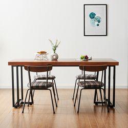 1400x800 코디 우드슬랩 식탁 4인용 테이블