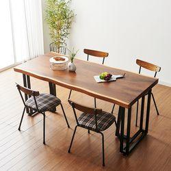 1600x800 코디 우드슬랩 식탁 4인용 테이블