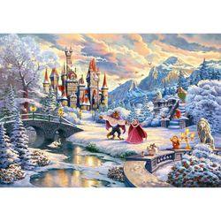 DIY 직소퍼즐 디즈니 미녀와 야수 겨울 마법 1000피스