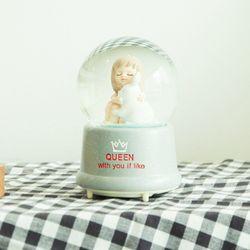 퀸 소녀와 애니멀 LED 워터볼 오르골 조카 생일 선물