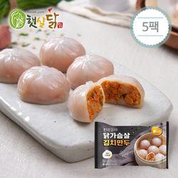 쫀득한 감자피 닭가슴살 김치만두 (168gX5팩)