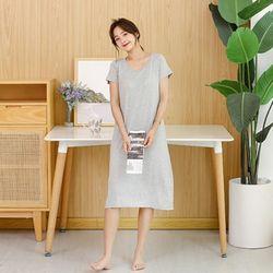 노브라 캡내장 모달 원피스 홈웨어 잠옷 2color