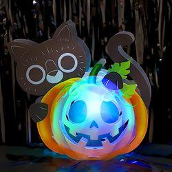 할로윈 LED 호롱불 만들기 세트 (고양이)