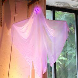 할로윈 LED 유령 천 장식 데코