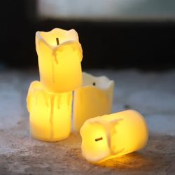 빈티지 LED 티라이트 캔들 12개입 (아이보리)