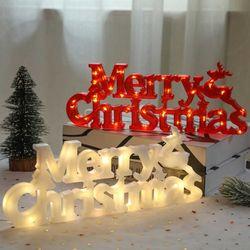 크리스마스 글자조명 LED 매장 인테리어