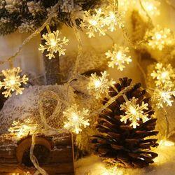 눈꽃 전구 5M 50구 LED 크리스마스 매장 인테리어