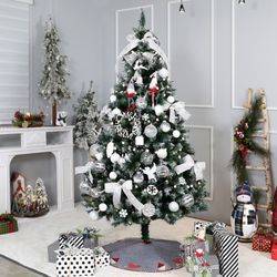 크리스마스트리 전구 장식 풀세트 프로즌화이트 2.1M