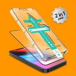 2매 아이폰 13 시리즈 3D 풀커버 이지키트 강화유리 필름