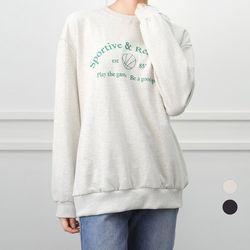 [네오쿠비카]빅사이즈 레터링 맨투맨 티셔츠 WB665