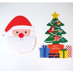 크리스마스 카드 만들기 2종 - 트리와 산타