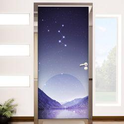bc162-밤하늘별자리현관문시트지