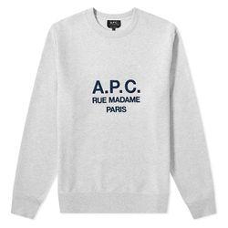 아페쎄 APC 루퍼스 로고 스웨트셔츠 맨투맨 PAA HEATH