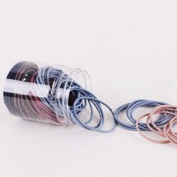 대용량 무매듭 고무줄 머리끈 헤어끈 세트 2.0mm+원통케이스S
