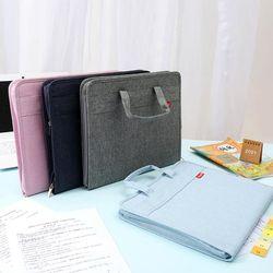 키밍 휴대용 서류 보관 가방 파일백 문서백 파우치
