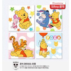 DIY 보석십자수 큐빅페인팅 디즈니 푸 20x20-종이판넬