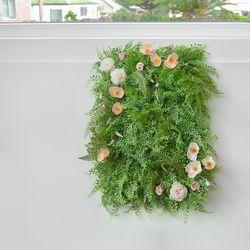 양귀비 플라워 장식 잔디 조화매트