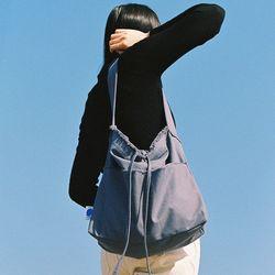 FRINGE HOBO BAG GRAYISH BLUE