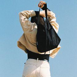 FRINGE HOBO BAG BLACK