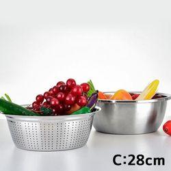 온나 물빠짐 채소 과일 세척바구니 채반(C)