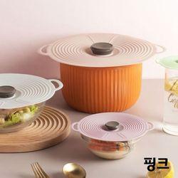 온나 다용도 뚜껑 실리콘 그릇덮개(핑크)