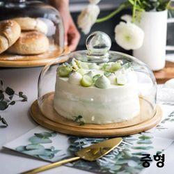 온나 우드 케익 빵 보관 트레이(중형)