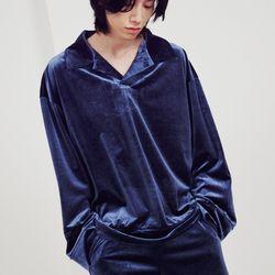 LIFE STINGS-벨벳 카라 풀오버 셔츠 french blue(ITEMQ0HY5EP)