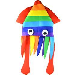 칼라 오징어 눈알 모자 (무지개)